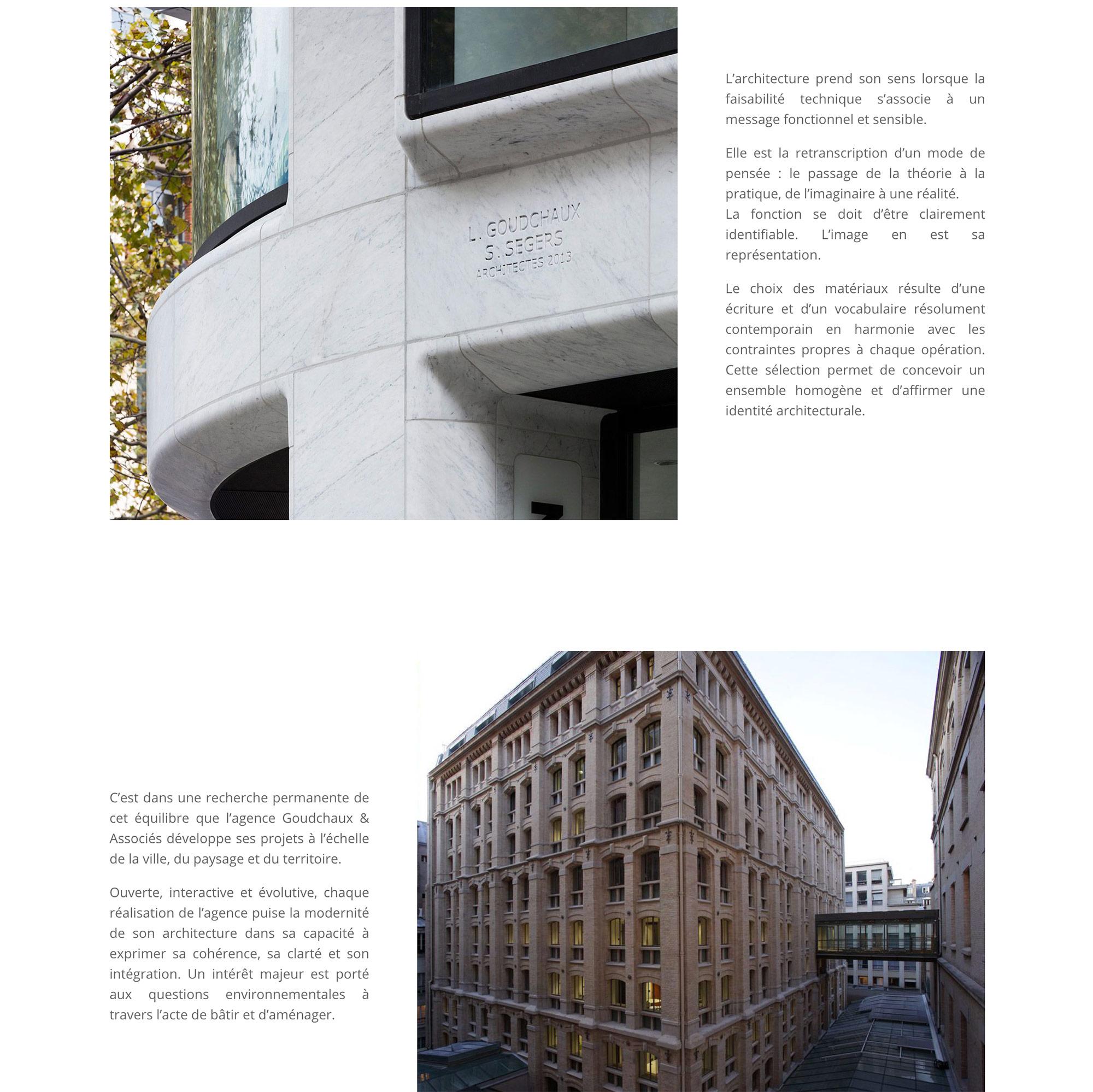 Goudchaux, Architecte.